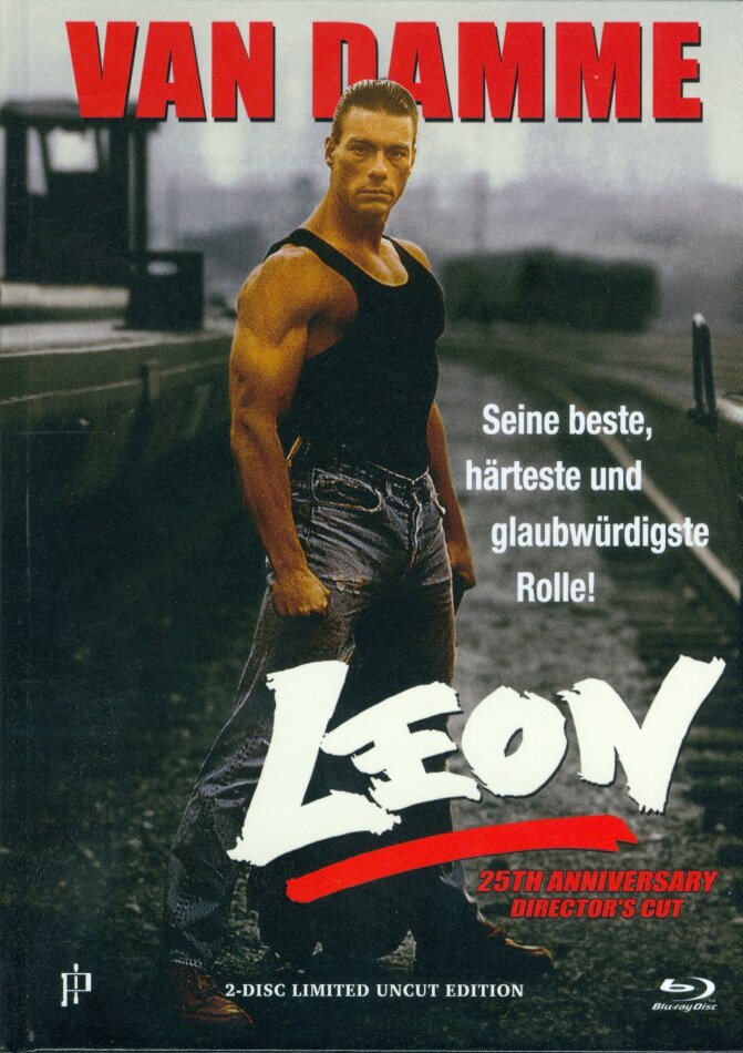 Leon (1990) (Limited Uncut Edition, Cover A, 25th Anniversary, Director's Cut, Mediabook, Blu-ray + DVD)