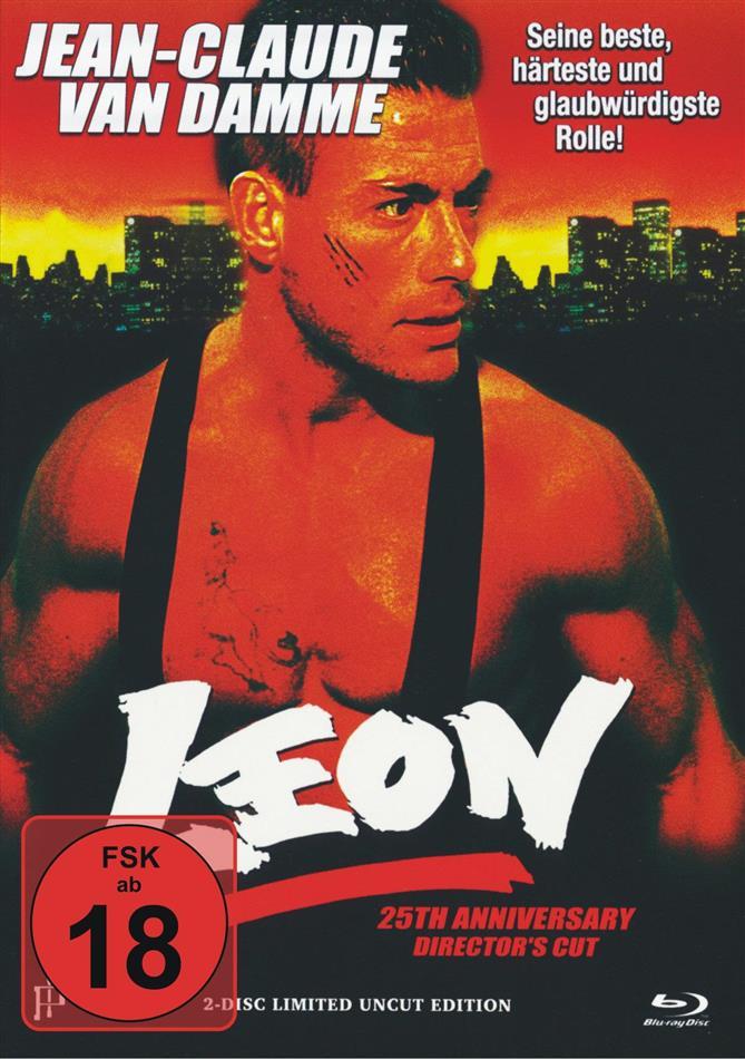 Leon (1990) (Cover B, 25th Anniversary, Director's Cut, Limited Edition, Mediabook, Uncut, Blu-ray + DVD)