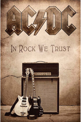 AC/DC Textile Poster - In Rock We Trust