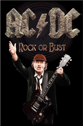 AC/DC - Rock or Bust / Angus Textile Poster