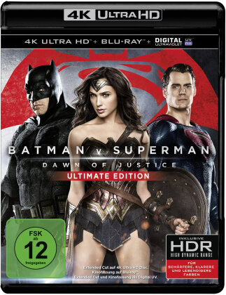 Batman v Superman - Dawn of Justice (2016) (Extended Edition, Versione Cinema, Ultimate Edition, 4K Ultra HD + Blu-ray)