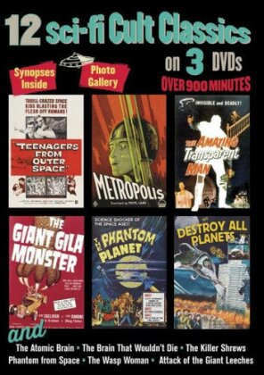 12 Sci-Fi Cult Classics - 12 Sci-Fi Cult Classics (3PC) (3 DVDs)