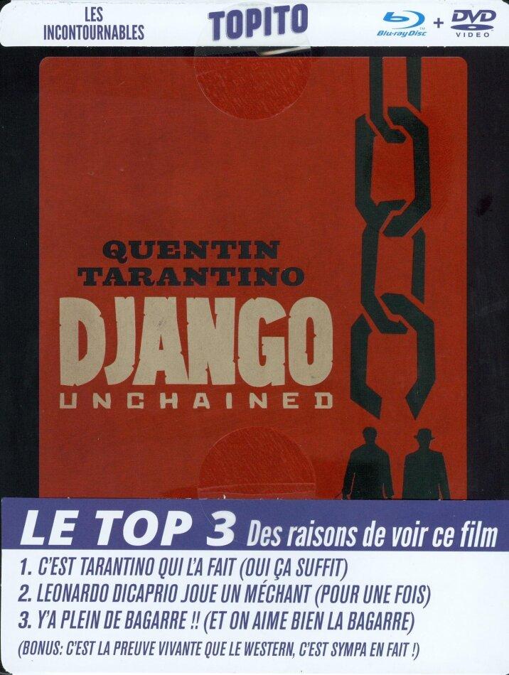 Django Unchained (2012) (Boîtier métal FuturePak, Collection TOPITO, Blu-ray + DVD)
