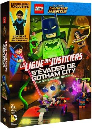 LEGO: DC Comics Super Heroes - La Ligue de Justiciers - S'évader de Gotham City (+ Figurine, Limited Edition)