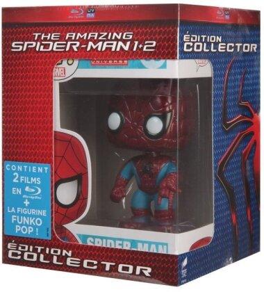 The Amazing Spider-Man (2012) / The Amazing Spider-Man 2 (2014) (+ figurine Pop! (Funko), Collector's Edition, 2 Blu-rays)