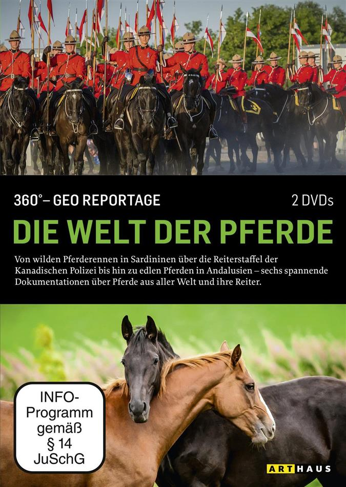 Die Welt der Pferde - 360° - GEO Reportage (Arthaus, 2 DVDs)