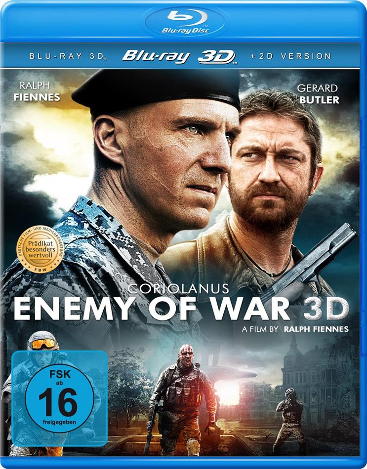 Coriolanus - Enemy of War (2011) (Blu-ray 3D (+2D) + DVD)