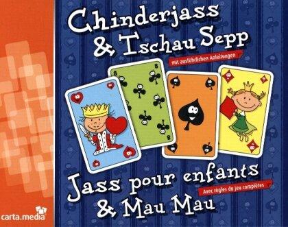 Chinderjass + Tschau Sepp mit französischen Karten