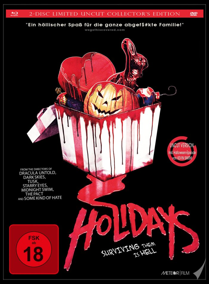 Holidays (2016) (Limited Collector's Edition, Mediabook, Uncut, Blu-ray + DVD)