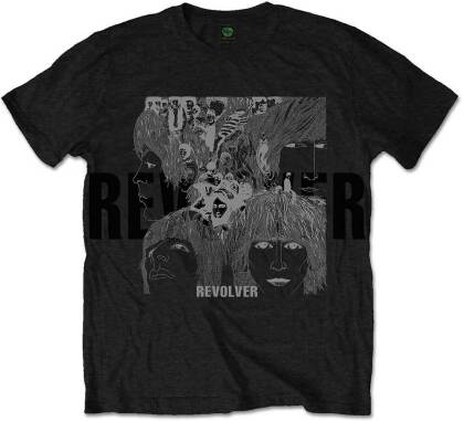 The Beatles Unisex Premium Tee - Reverse Revolver with Foiled Application