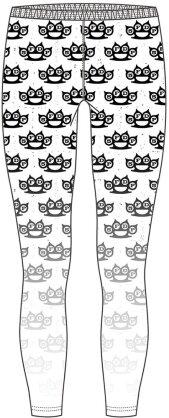Five Finger Death Punch Ladies Fashion Leggings - Knuckleduster