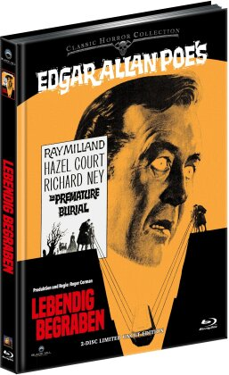 Lebendig begraben (1962) (Classic Horror Collection, Cover B, Limited Edition, Uncut, Mediabook, Blu-ray + DVD)