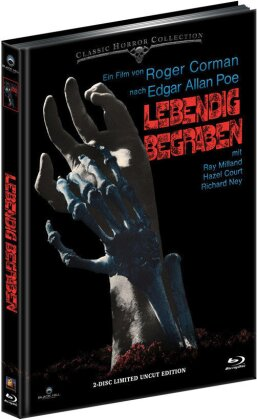 Lebendig begraben (1962) (Cover B, Classic Horror Collection, Limited Edition, Uncut, Mediabook, Blu-ray + DVD)