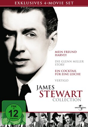 James Stewart Collection - Mein Freund Harvey / Die Glenn Miller Story / Cocktail für eine Leiche / Vertigo (4 DVDs)