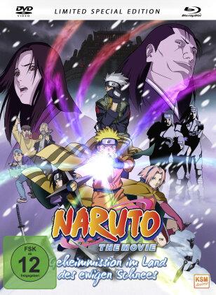 Naruto - The Movie - Geheimmission im Land des ewigen Schnees (2004) (Mediabook, Limited Special Edition, Blu-ray + DVD)