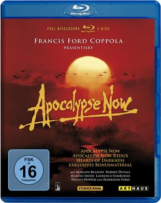 Apocalypse Now (Full Disclosure, Arthaus, 3 Blu-rays)
