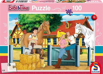 Bibi & Tina: Auf dem Martinshof - 100 Teile Puzzle