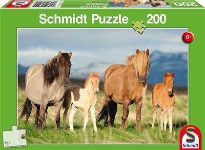 Pferdefamilie - 200 Teile Puzzle