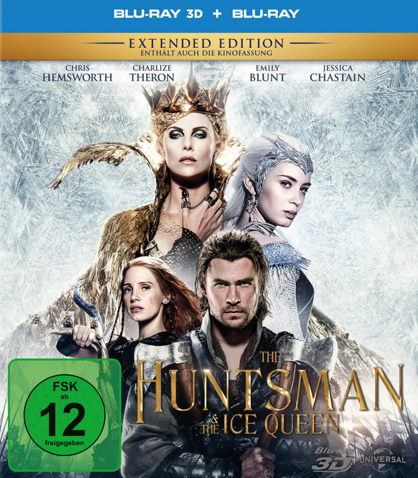 The Huntsman & The Ice Queen (2016) (Extended Edition, Versione Cinema, Blu-ray 3D + Blu-ray)