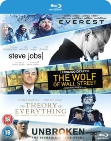 Everest / Steve Jobs / Wolf Of Wall Street / Theory Of Everything / Unbroken (5 Blu-rays)
