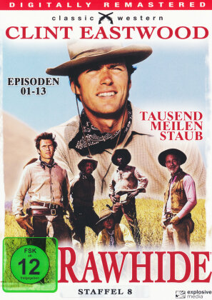 Rawhide - Staffel 8 (Classic Western, Digitally Remastered, s/w, 4 DVDs)
