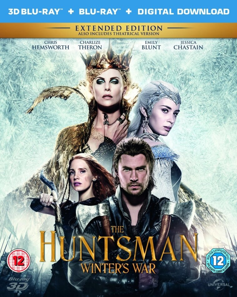 The Huntsman - Winter's War (2016) (Extended Edition, Kinoversion, Blu-ray 3D + Blu-ray)