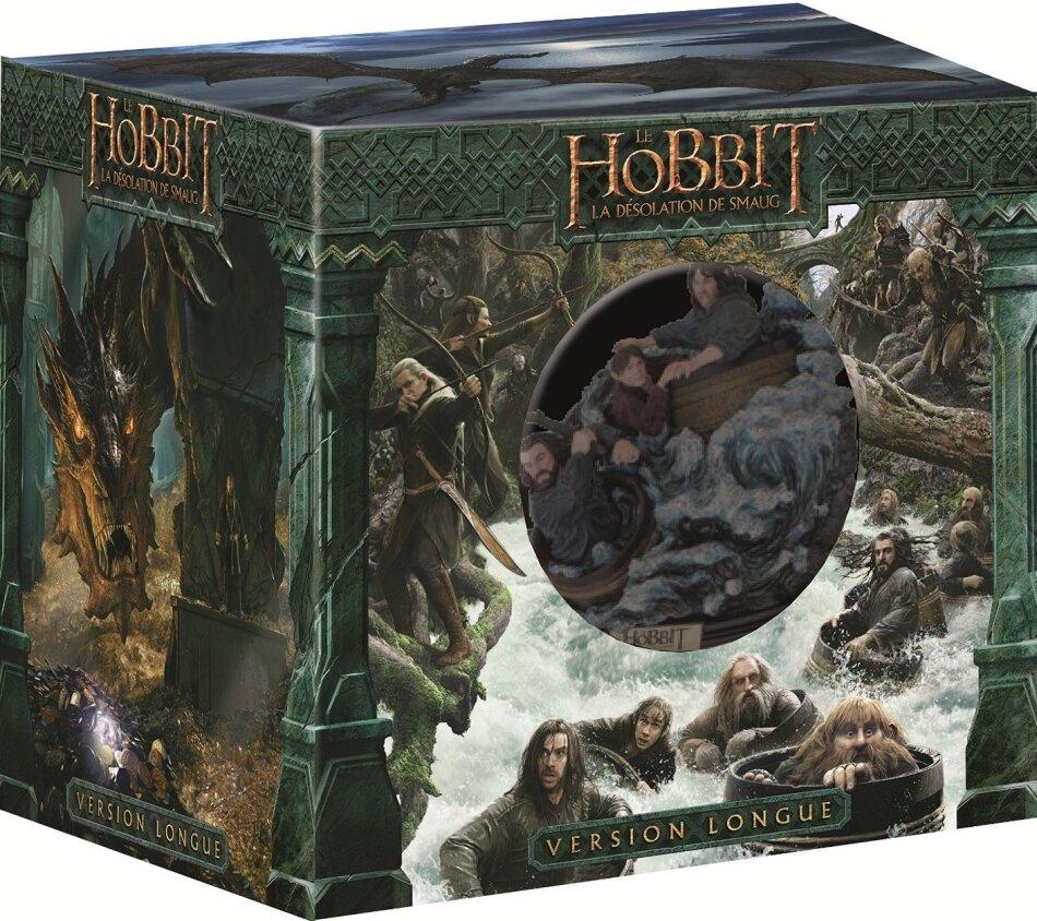 Le Hobbit 2 - La désolation de Smaug (2013) (Statue, Versione Lunga, 2 Blu-ray 3D + 3 Blu-ray + 2 DVD)