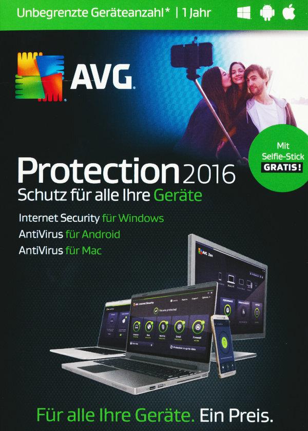 AVG Protection 2016 Sommer Edition [unbegrenzte Lizenzen] [PC/Mac/Android]