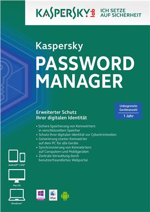 Kaspersky Password Manager [unbegrenzte Lizenzen] [PC/Mac/Android/iOS]