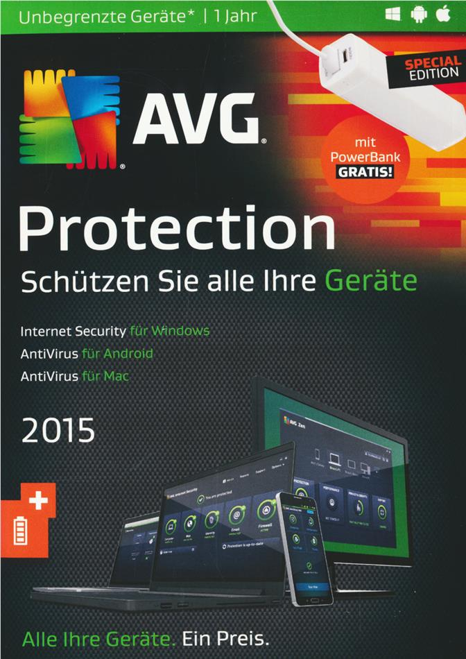 AVG Protection 2015 inkl. Power Bank Swiss Edition [PC/Mac/Android]