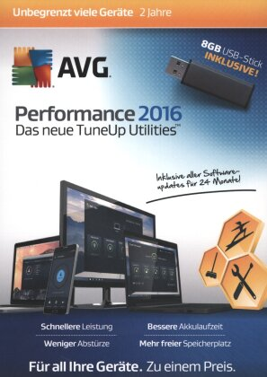 AVG Performance 2016 inkl. USB-Stick (TuneUp) - [3 Lizenzen] (Android + Mac + PC)
