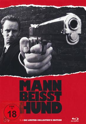 Mann beisst Hund (1992) (Cover B, s/w, Limited Collector's Edition, Mediabook, Blu-ray + DVD)
