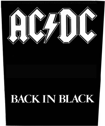 AC/DC - Back In Black Back Patch