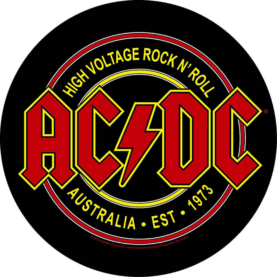 AC/DC Back Patch - High Voltage Rock N Roll