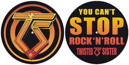 Twisted Sister Slipmat Set - You Can'T Stop Rock 'N' Roll