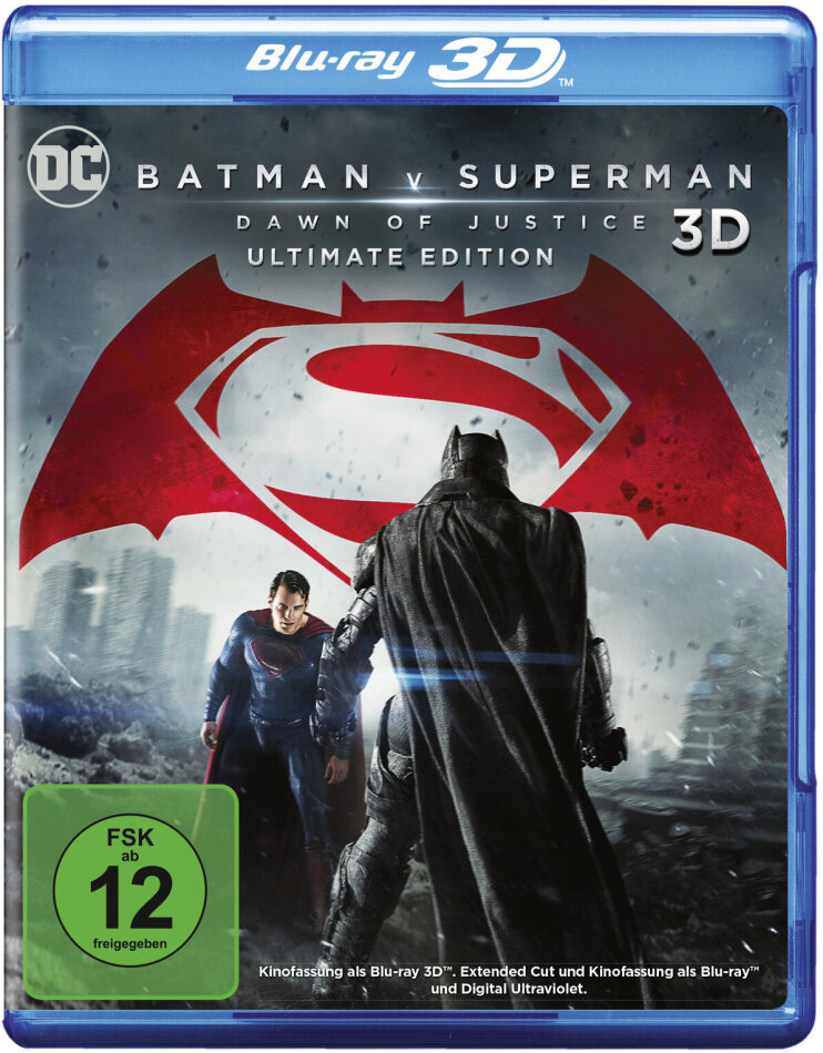 Batman v Superman - Dawn of Justice (2016) (Extended Edition, Versione Cinema, Ultimate Edition, Blu-ray 3D + 2 Blu-ray)