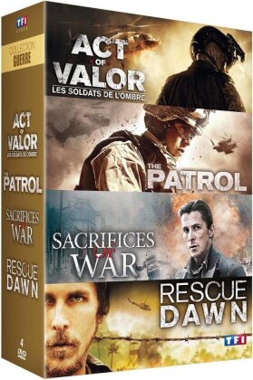 Act of Valor / The Patrol / Sacrifices of War / Rescue Dawn (4 DVDs)