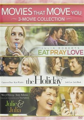 Movies That Move You: 3-Movie Collection - Eat Pray Love / The Holiday / Julie & Julia