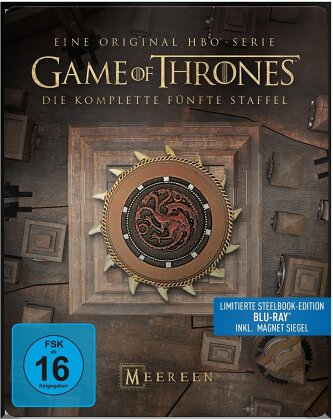 Game of Thrones - Staffel 5 (inkl. Magnet Siegel, Limited Edition, Steelbook, 4 Blu-rays)