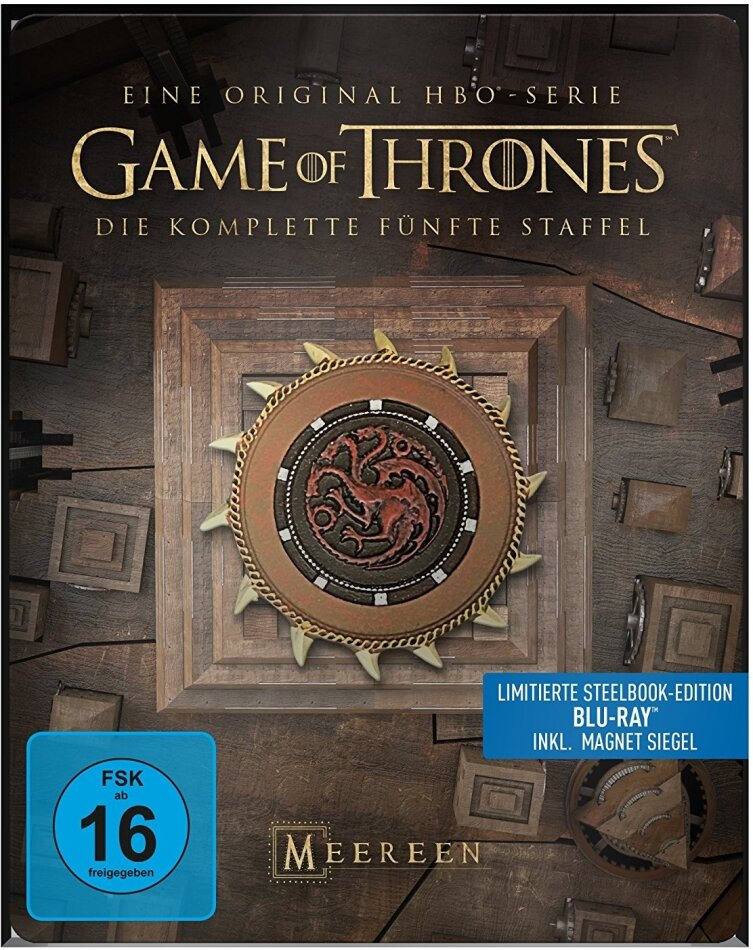 Game of Thrones - Staffel 5 (inkl. Magnet Siegel, Limited Edition, Steelbook, 4 Blu-rays)
