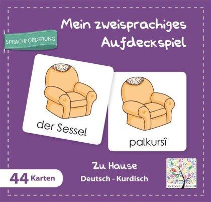 Mein zweisprachiges Aufdeckspiel - Zu Hause Deutsch-Kurdisch (Kinderspiel)