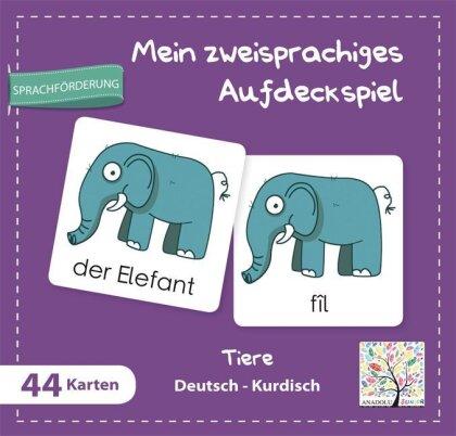 Mein zweisprachiges Aufdeckspiel, Tiere - Deutsch-Kurdisch (Kinderspiel)