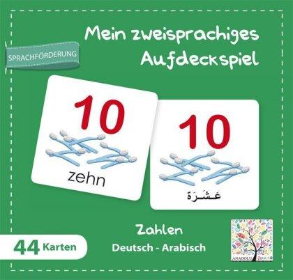 Mein zweisprachiges Aufdeckspiel - Zahlen Deutsch-Arabisch (Kinderspiel)