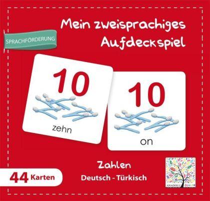 Mein zweisprachiges Aufdeckspiel - Zahlen Deutsch-Türkisch (Kinderspiel)