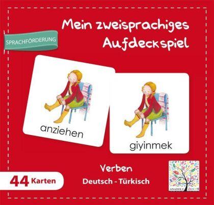 Mein zweisprachiges Aufdeckspiel - Verben Deutsch-Türkisch (Kinderspiel)