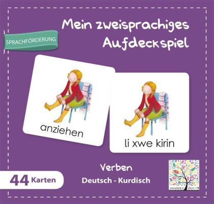Mein zweisprachiges Aufdeckspiel - Verben Deutsch-Kurdisch (Kinderspiel)