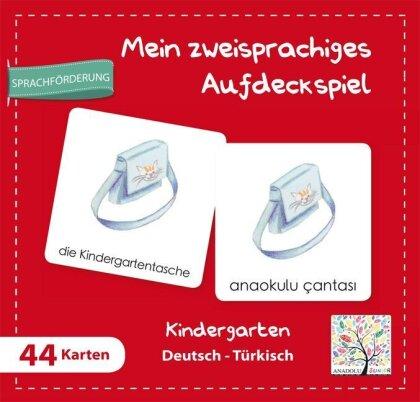 Mein Zweisprachiges Aufdeckspiell - Kindergarten Deutsch-Türkisch (Kinderspiel)