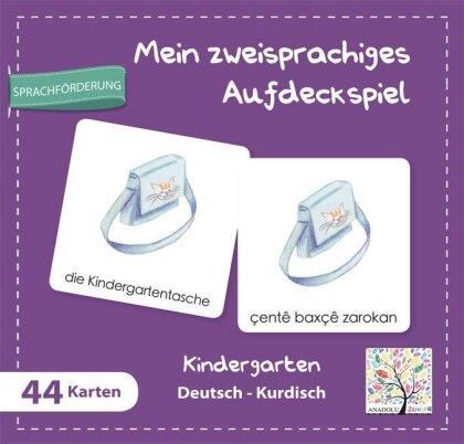 Mein zweisprachiges Aufdeckspiel - Kindergarten Deutsch-Kurdisch (Kinderspiel)