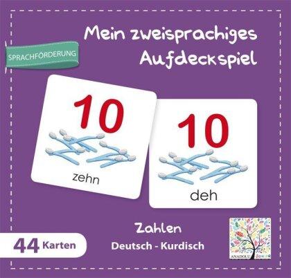 Mein zweisprachiges Aufdeckspiel - Zahlen Deutsch-Kurdisch (Kinderspiel)