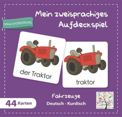 Mein zweisprachiges Aufdeckspiel - Fahrzeuge Deutsch-Kurdisch (Kinderspiel)